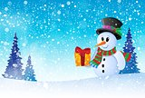 Winter snowman theme image 8