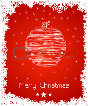 abstract christmas decoration background, easy all editable