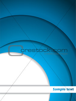 Abstract blue and white brochure