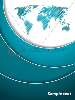 Abstract turquoise and white brochure
