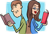 couple in love cartoon illustration