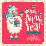New Year card.