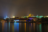 Prague Castle and the Little Quarter at night, Czech Republic