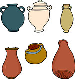 Various Clay Vases