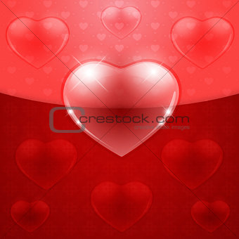 Beautiful red heart background