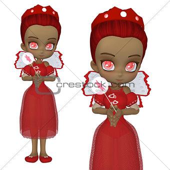 Cute Valentine fairy