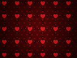 Grunge red pattern with hearts