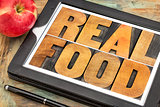 real food in wood type
