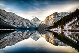 Reflection at Plansee (Plan Lake), Alps, Austria