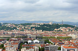 View of Lyon from a hill , France, Europe