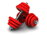 dumbells pair