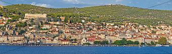 Town of Sibenik waterfront panorama