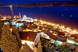 Aerial evening view of Sibenik