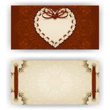 Elegant vector template for luxury invitation, card