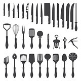 dinner cutlery silhouette set
