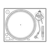 outline vinyl turntable