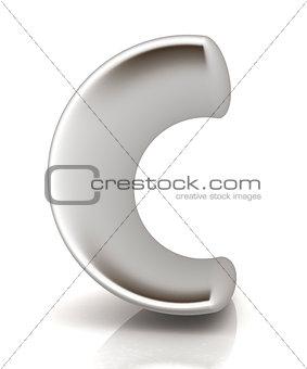 """3D metall letter """"C"""""""
