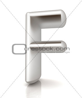 "3D metall letter ""F"""