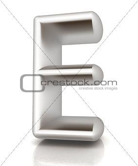 """3D metall letter """"E"""""""