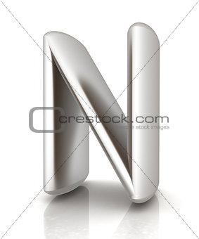 "3D metall letter ""N"""
