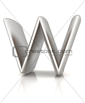 "3D metall letter ""W"""