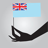 Hand with flag Fiji