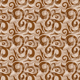 Seamless brown abstract ornate pattern
