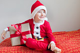 kid at christmas