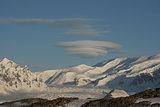 Lenticular obloka over Antarctica.