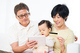 Asian family online shopping
