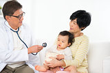 Pediatrician and patient.