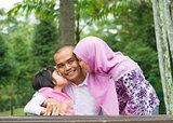 Asian Muslim family