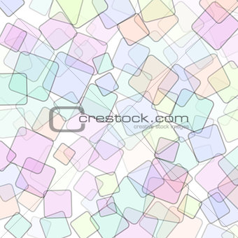 Abstract square geometric colorful background