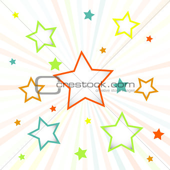 Abstract colorful background with stars