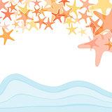 Colorful sea starfish illustration