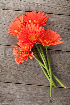 Bouquet of orange gerbera flowers