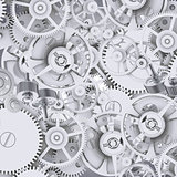 Texture of gears and cogwheels