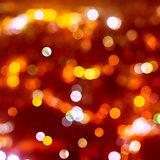 Christmas background of blur bokeh lights