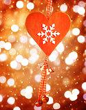 Heart shaped decor for Christmas