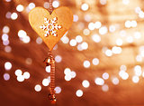 Christmas heart shaped decoration