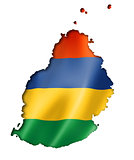 Mauritius flag map