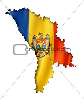 Moldova flag map
