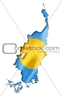 Palau flag map