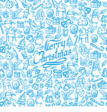 Vector Seamless Christmas and New Year Card