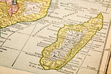 Madagascar on vintage map