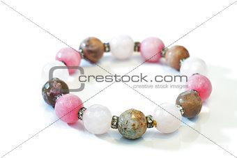 bracelet faceted stones