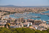 aerial view panorama of Palma, sunny day