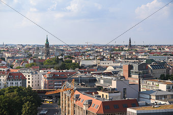 aerial view panorama of berlin, sunny day