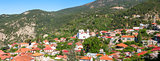 Panoramic view of Pedoulas Village. Cyprus. Nicosia District