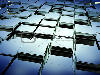 Abstract background with boxes